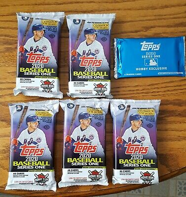2020 Topps Baseball Series 1 JUMBO Factory Sealed Random  Five Pack Lots