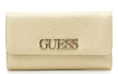 PORTAFOGLIO DONNA GUESS uptown chic slg pocket trifold Gold