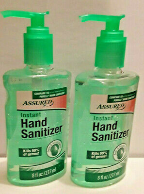2 Pack Hand Sanitizer with Aloe, 8 oz. With Pump ( Compare to PURELL )