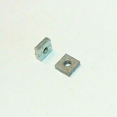 6/32 Square Nuts - Zinc Plated - Lot Of 200 Pcs.