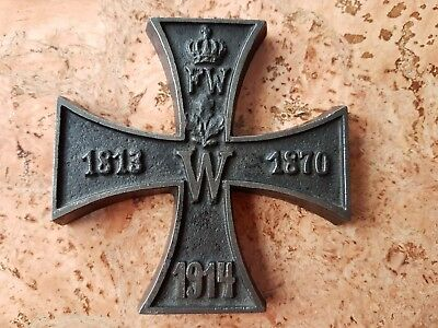 ww1 German Iron Cross 1914 Cast Iron world war 1813 1870 metal large rare old