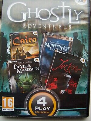 Four Game Pack---Ghostly Adventures---Hidden Object---Pc Cd---New---Free Post Uk