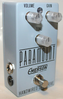 Emerson Custom Paramount Overdrive Effects Pedal, Baby Blue, Brand New