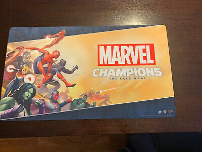 FFG Marvel Champions LCG OP Promos Launch Playmat Game Mat UNUSED SEE PHOTOS!