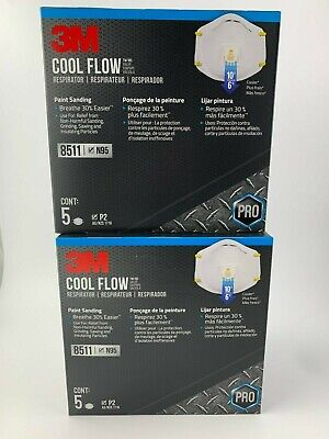3M N95 8511 Respirator Mask Cool Flow Valve (10-Pack) FAST SHIPPING