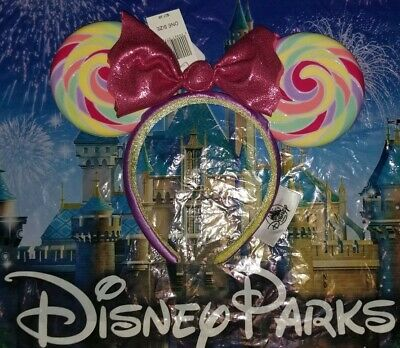 NEW WITH TAGS Disney Parks Mickey Minnie Mouse Lollipop Ears Headband