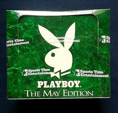 1995 Sports Time Inc Playboy May Edition Trading Cards Factory Sealed Box