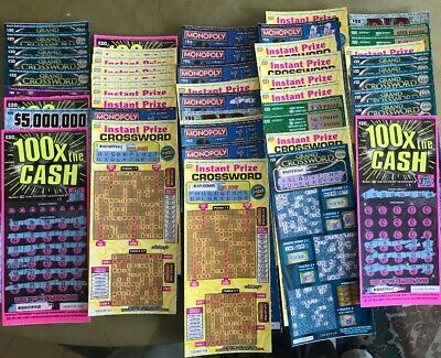 $1000 Used Scratch Off Lottery Tickets California/ No 2nd Chance