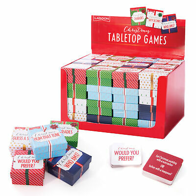 TABLETOP XMAS GAMES - 6 Different Mini Festive Games Small Pocket Travel Size