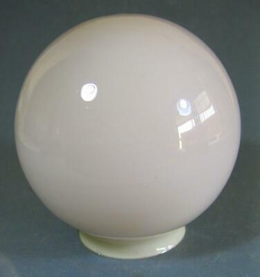 Vintage art deco cased lilac glass ceiling light/diana lamp shade ball/round