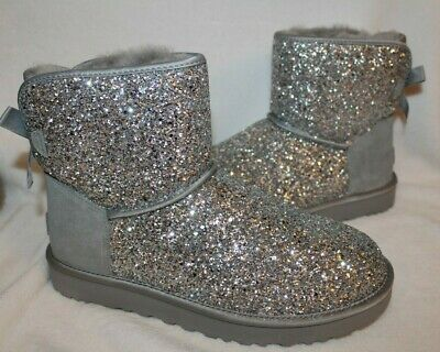 NIB UGG Women's Classic Short Cosmo Boots in Silver | eBay