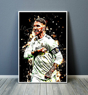 HD Print Sergio Ramos Oil Painting Home Wall Decor Art On Canvas 16x24inch