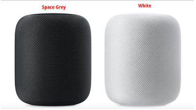 Apple HomePod Bluetooth Speaker-MQHW2LL/A- MQHV2LL/A -Grey/ White- Open Box Item