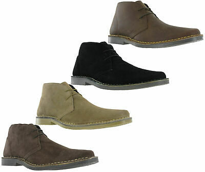 Amblers Mens Suede Leather 5 Eye Army Combat Military Ankle Desert Boots Taupe