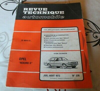 RTA revue technique automobile n° 326 OPEL RECKORD II 1973