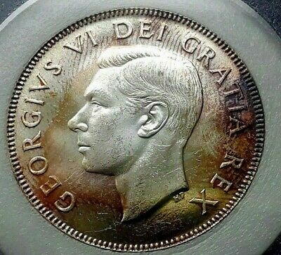 1948 .50  - Graded High Quality Mint State 64 - Attractive Patina - Die Rotation