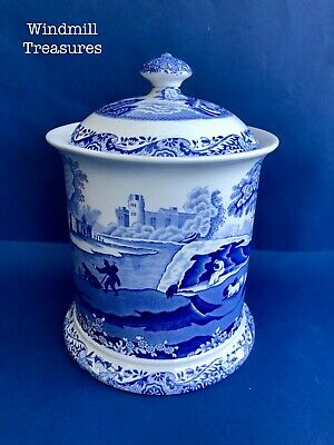 Medium SPODE BLUE ITALIAN Canister Large or Small