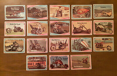 Vintage 70s Street Chopper - Hot Bike cards - Lot of 18 - All Different