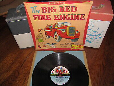THE BIG RED FIRE ENGINE 78rpm 1950 PETER PAN RECORDS 2235 in Picture Sleeve Rare