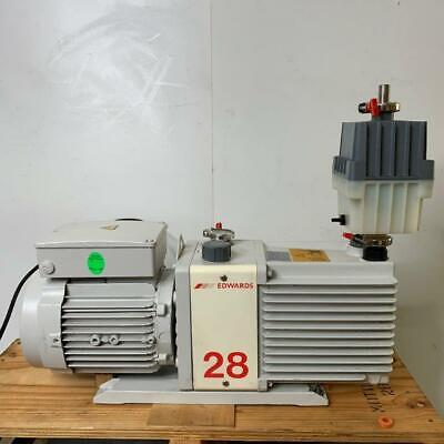 Edwards E2M28 Rotary Vacuum Pump + EMF20 Oil Mist Filter