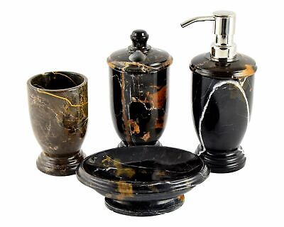 Exotic 5 Piece Michelangelo Marble Bathroom Accessory Set Of Bengal Collection 142 45 Picclick