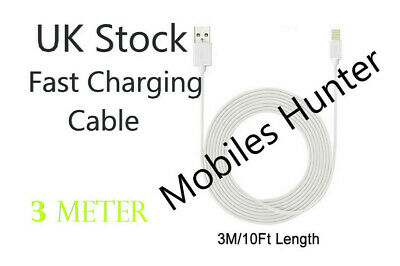 3M Long Fast USB Lightning Charger Lead Cable For iPhone5 6 7 / iPad all models
