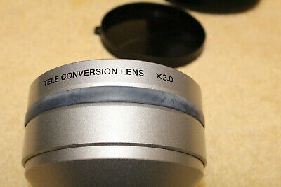 Sony VCL- HG2037 Tele Conversion Lens X2.0 w/case and caps