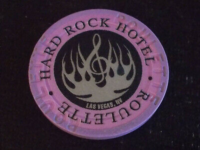 HARD ROCK HOTEL CASINO ROULETTE hotel casino gaming poker chip ~ Las Vegas, NV