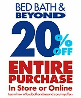 Bed Bath & Beyond EXCLUSIVE 20% Off ENTIRE Purchase + FAST EMAIL DELIVERY