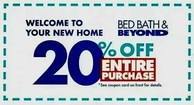 ➡️ FAST! Bed, Bath & Beyond—20% OFF ENTIRE Purchase-Online/In-Store-Exp. July