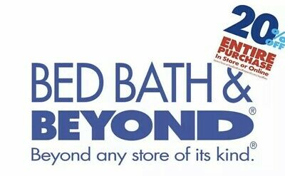 Bed bath and beyond 20% OFF Entire Purchase, Email Delivery QUICK FAST SAME DAY