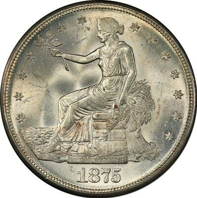 1875-S T$1 Trade Dollar PCGS MS64+ (CAC)