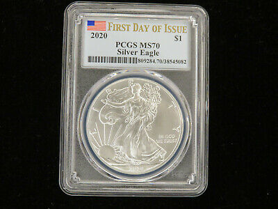 2020 American Silver Eagle 1st Day of Issue PCGS MS 70 W-048