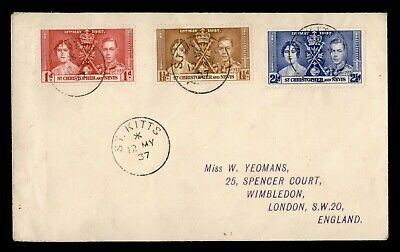 Dr Who 1937 St. Christopher Nevis King George Vi Coronation Fdc C163706