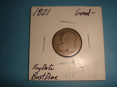 """1821 Capped Bust Dime """"Large Date"""""""