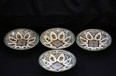 Beit Gemal Middle East ceramics two sets of two bowls, vintage in VG+ condition.