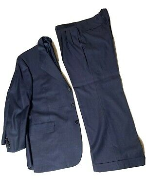 Oxxford Clothes ~ Mens Blue Wool Suit ~ Size 44 R.