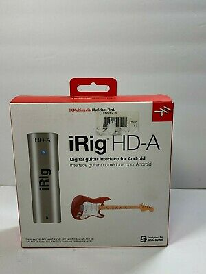 IK Multimedia iRig HD-A Digital Guitar Bass Interface Android Devices