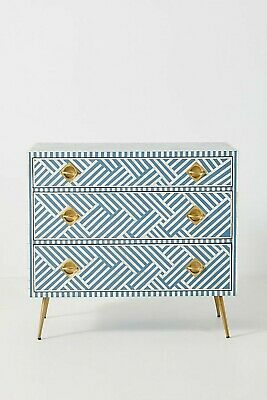 Bone Inlay 3 drawer strip pattern indian handmade sideboard bohemian style