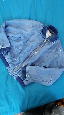 girl denim blue spring autumn jacket next bnwot 6-7 years 7 years