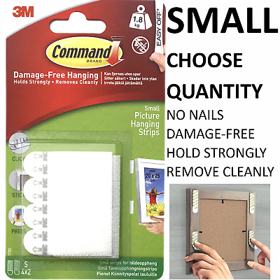 3M Command Strips™️ Picture Frame Hanging Adhesive Stick on SMALL Damage-Free