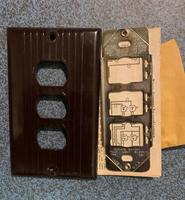 NOS Vintage Leviton Socket Plate Switch Plate Cover