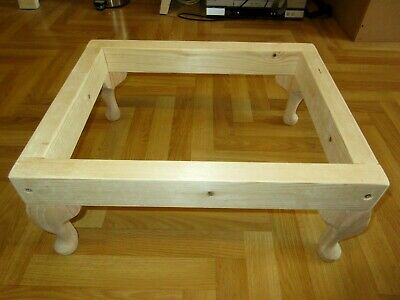 """Footstool frame on 6"""" or 9"""" Queen Anne legs"""