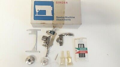 Vintage Singer Sewing Machine Box And Parts Please See Photos