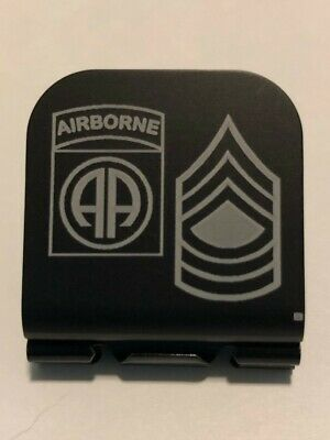 Field Artillery Badge Laser Etched Aluminum Hat Clip Brim-it