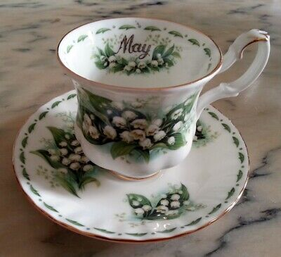 Royal Albert Flower of the month May mese Maggio Tazza Caffè