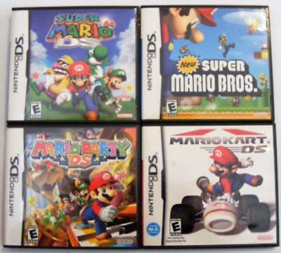 Lot Of 4****Nintendo Ds***Mario Party Super 64 Bros Kart***Complete Nds 3Ds
