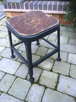Vintage Industrial Factory Machinist Stool Step Stool