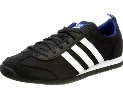 New Mens Adidas  DB0462 Vs Jog Low-Top Sneakers Trainers Black /White Size UK 9