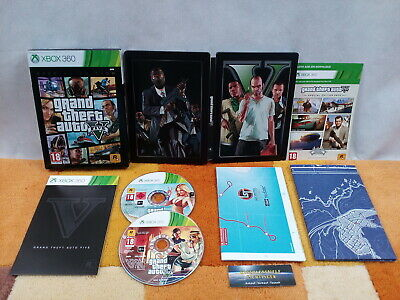 GTA 5 Five Grand Theft Auto V Special Eition Xbox 360 USK18 +Steelbook +2 Karten